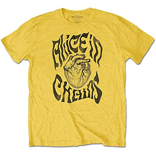 Alice in Chains T Shirt Transplant Band Logo Nuovo Ufficiale Uomo Size M