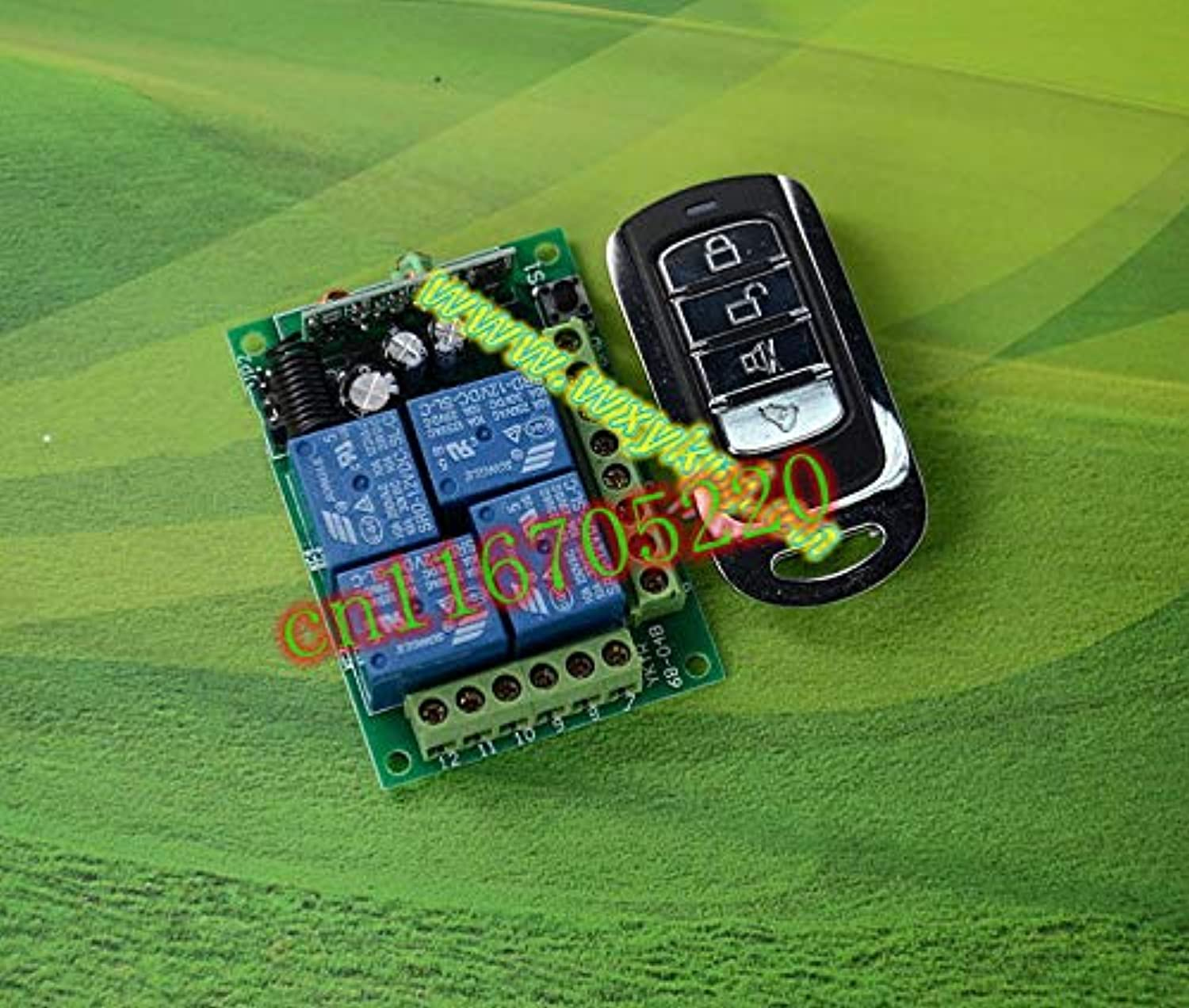Dc 12v 10a 4 CH Wireless Remote Control Switch System DC 12V Latched Momentary Toggle Change Freely add Controller 315MHz 433MHz