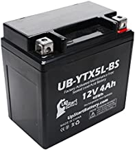 YTX5L-BS Battery Replacement (4Ah, 12v, Sealed) Factory Activated, Maintenance Free Battery Compatible with - 2006 Honda CRF150F, 2006 Honda CRF250X, 2005 Honda CRF250X, 2004 Honda CRF250X