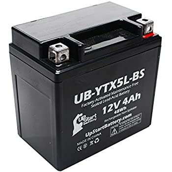 YTX5L-BS Battery Replacement  4Ah 12v Sealed  Factory Activated Maintenance Free Battery Compatible with - 2006 Honda CRF150F 2006 Honda CRF250X 2005 Honda CRF250X 2004 Honda CRF250X
