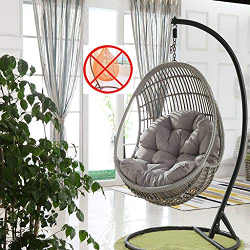 Boha Zitkussen, hangstoel, hangstoel, hangmat, ei, hangstoel, zonder standaard, dik, antislip, comfortabel, sofamat, schommelmand, hangstoel 90x120x13cm 10 Correas