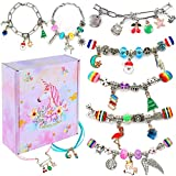 DIY Charm Bracelet Making Kit for girls, Jewelry Stainless Steel Adjustable Link Chain For...