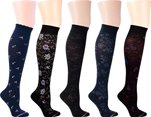Dr. Motion Women's Compression Socks 5 pairs (Assort 9)