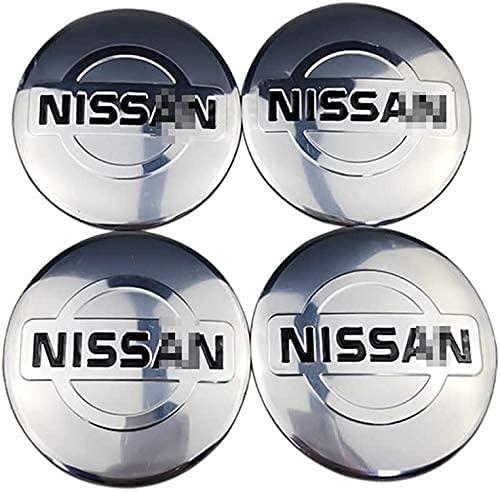 LZYYDS 4 StüCk Radnabenkappen Nabenkappen FüR Nissan Qashqai Tiida Almera Altima Teana X-Trail,Aluminium Auto Nabendeckel Radnabenabdeckung Center Radkappen,Wheel Centre Hub Caps Aufkleber 56MM