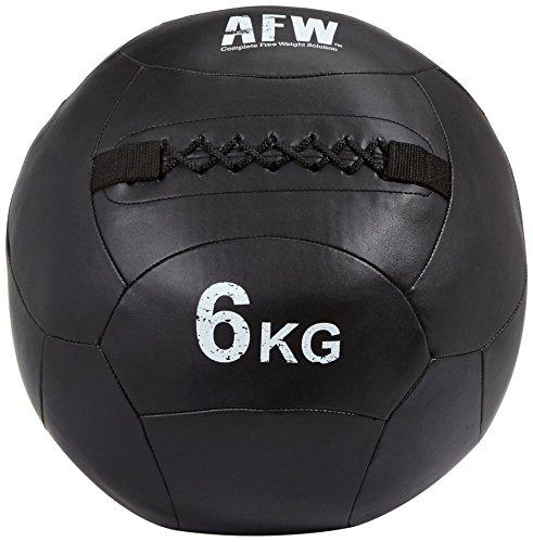 AFW 106076 106076-Balón Medicinal Funcional de 7kg, Color Negro, Talla M, Hombres, U