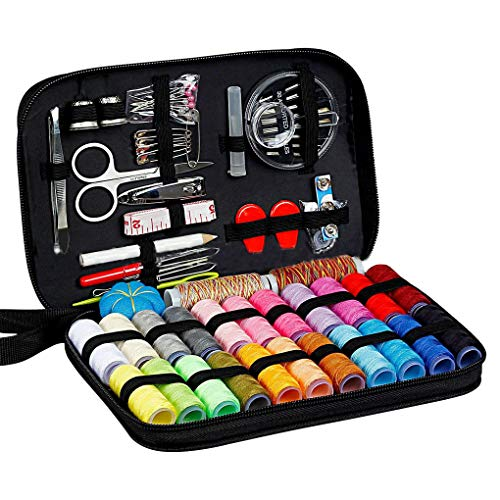 Vkospy Sewing Kit,Travel Sewing Kit for Home,Travel with Mending and Sewing Scissors,Needles,Thimble,Thread,Tape Measure etc