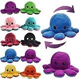 Besties Reversible Octopus Plush Stuffed Animal Toy Assorted - 1piece (Octopus 18CM, Assorted)