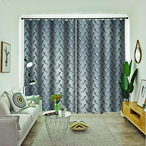 Oukeep European Fashion Home Decoration Curtains Thick Washed Super Blackout Curtains Two Installation Methods 2 Pieces