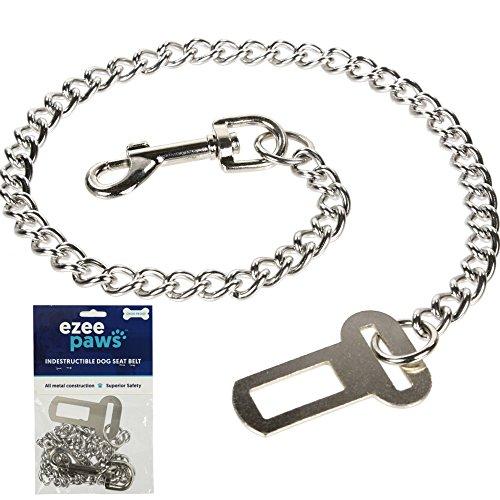 Ezee Paws ceinture de sécurité en métal pour chien...