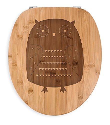 Mr. & Mrs. Panda Gravur, Holz, WC Sitz Eule Azteke - Farbe Transparent