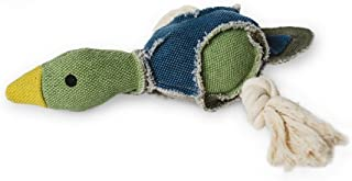 Fetch Pet Products Party Fowl Canvas and Rope Squeaky Dog Toy for Large and Medium Dogs, Multiple Squeakers Inside