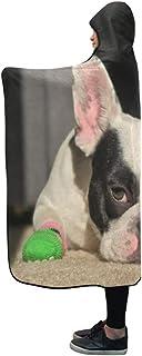 CYDBQ 膝掛け 犬 靴下 フード付き毛布 肩掛け 着る毛布 ブランケット 帽子付きマント 部屋着 ルームウェア フランネル 可愛い 柔らかい レディース 大きい