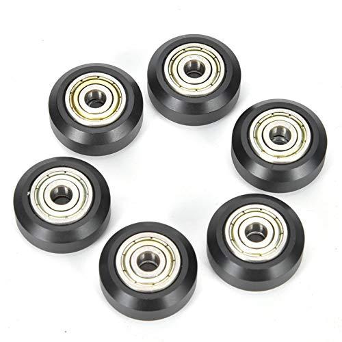 Rodamiento de bolas de ranura de rueda de polea de acero al carbono de 10 piezas para impresora 3D CR-10 CR-10S