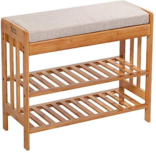Wddwarmhome Zapatero de bambú de 2 capas de zapatero, estante de almacenamiento simple de bambú, tamaño puede elegir (tamaño: 70 x 30 x 50 cm)