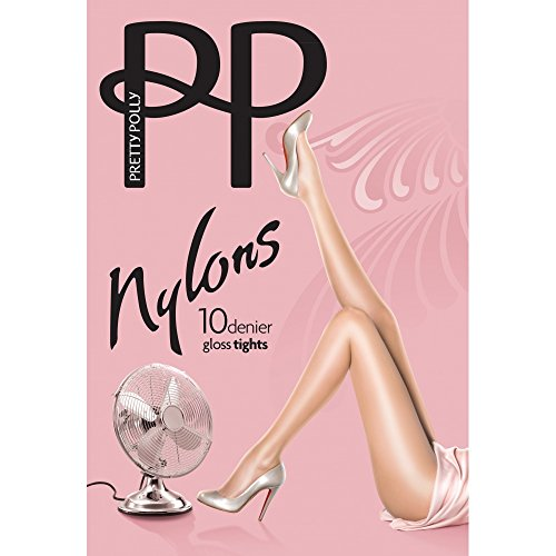 Pretty Polly Nylons 10D Gloss Tights Style PNAF83 (Large, Black)