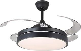 Hogar Ventilador Techo Ventilador de techo con lámpara Ventilador invisible de techo Lámpara de restaurante Restaurante Sala de estar Moderna lámpara de techo Ventilador ( tamaño : 42 inches )