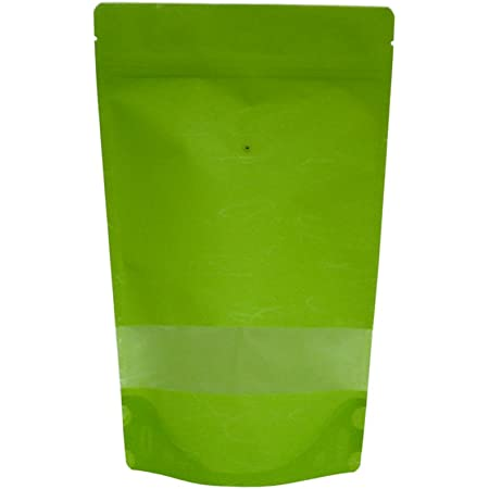 DIY wedding favors 20-8 oz green rice paper storage bags food safe packaging window stand up pouch reclosable resealable zipper pouch