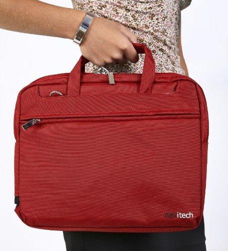 Navitech rote Premium Wasser wiederständige Shock sichere Ultrabook/Laptop/Tablet trage Tasche/Case speziell für das Medion Akoya S6214T