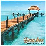 Beaches Calendar 2022-2023: Cute Calendar 2022-2023 , Wall & Office Calendar 2022-2023 Size 8.5 x 8.5 Inch,16 Month Calendar 2022-2023 For Women, Men, Kids & Beach Lovers