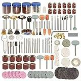 ZJN-JN Brocas, 166pcs 1/8 pulgadas mango de la herramienta Accesorios for las herramientas de pulido del cepillo Set Polshing pulido rueda de esmerilado y pulido Fresas de corte