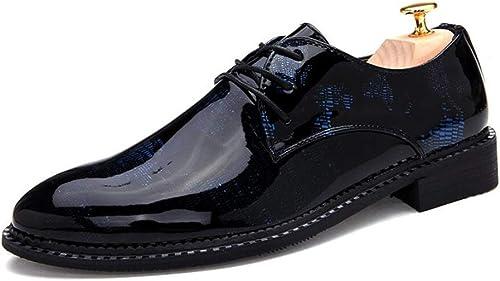 FuWeißncore Herrenschuhe Lackleder   Spring Fall Formale Schuhe Kleid Schuhe Fashion Party & Abend Hochzeit   Business (Farbe   B, Größe   42)