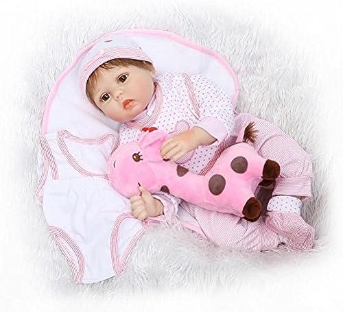 QXMEI 22 Zoll Reborn Babypuppe Weißes Silikon Puppe Simulation Sü  Baby mädchen Kreative Geschenk 55cm
