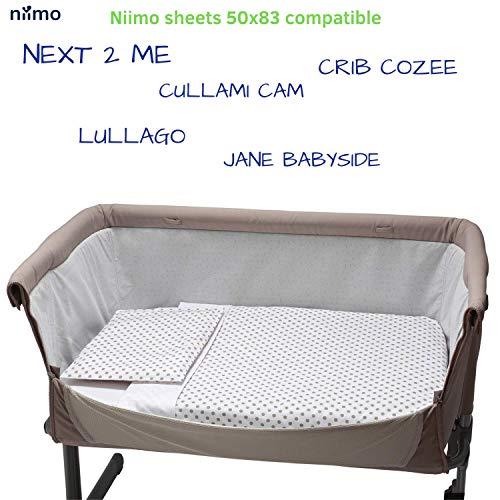 100/% algod/ón fabricada por For Your Little One blanca S/ábana bajera ajustable compatible con cuna Chicco Lullago