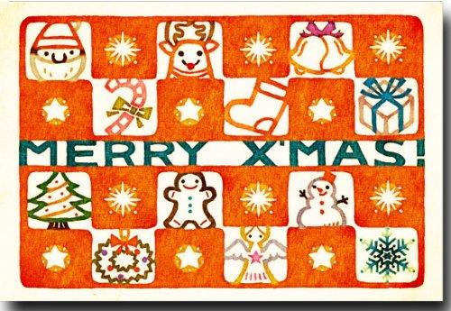 クリスマスポストカード 「メリークリスマス」 和風クリスマス 絵はがき