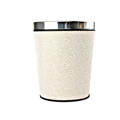 LNNZPL Hölzerner Abfall des kreativen Haushaltsbambuswiederverwertungsbehälters, Vorratskorb, Hotelbüro-Papierkorb Mülleimer (Color : White Clouds)