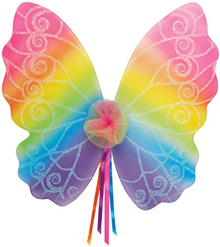 Star Power Magical and Mysterious 20' Rainbow Fairy Wings, One Size