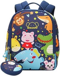 Mochila con diseño de animales para niños y niñas de 1 a 3 años, azul marino. (Azul) - shoulder-handbags