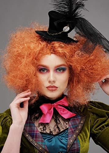 Magic Box Int. Lockige Auburn Mad Hatter Perücke für Damen