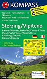 Sterzing / Vipiteno: Wanderkarte mit Aktiv Guide, Radrouten und Skitouren. GPS-genau. 1:50000: Wandelkaart 1:50 000 (KOMPASS-Wanderkarten, Band 44) - KOMPASS-Karten GmbH