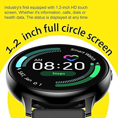 Reloj inteligente con tacto completo para mujer, pulsera impermeable, ECG, monitor de ritmo cardíaco, monitoreo del sueño, smartwatch para hombres conectan iOS Android a la moda, B-F-E