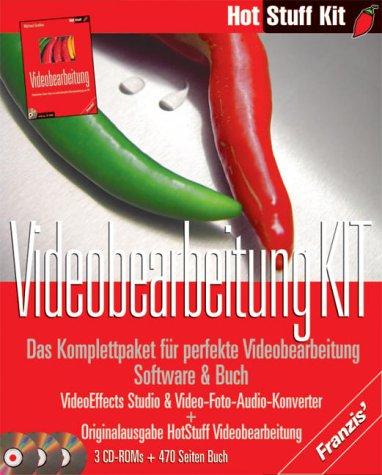 Videobearbeitung Kit, 3 CD-ROMs u. BuchDas Komplettpaket für perfekte Videobearbeitung. Buch: 'Hot Stuff Videobearbeitung'. CD: VideoEffects Studio & Video-Foto-Audio-Konverter. Für Windows 95/98/ME/XP/NT/2000