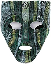 MICG Resin Loki Mask Deluxe Jim Carrey The Mask Halloween Fancy Dress Costume (Loki)