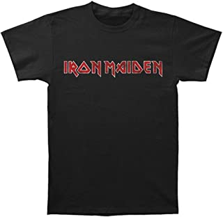 Iron Maiden Unisex Distressed Logo T-Shirt