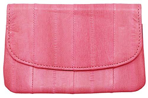Becksöndergaard Damen Leder Kleingeld Geldbörse Handy Pink - Handlich klein für Geld & Karten - Weich & strapazierfähig - Gelb - Größe 11x5 cm - 100007-084