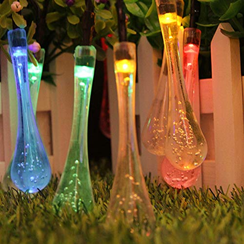 ABTSICA Ultrabright String Light, Outdoor Waterproof LED Solar Fairy String Lights 8 Modes Garden Decoration Hanging Lights For Patio Party Christmas Tree,colour,7m50 lights