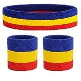 ONUPGO Set de muñequeras deportivas Set de muñequeras con banda de sujeción Bandas para sudar Wristband Ejercicio atlético Baloncesto Muñequera y bandas para la cabeza