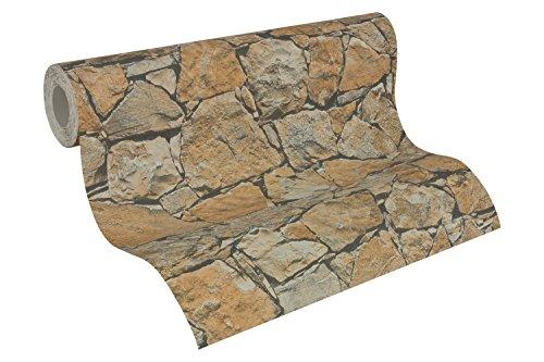 A.S. Création Vliestapete Dekora Natur Tapete in Naturstein Optik 10,05 m x 0,53 m beige braun schwarz 958631 95863-1