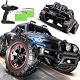 Remote Control Car, Uniway Scale RC Cars 4WD 30 KM/H 2.4 GHZ High Speed Racing Car for Boys and Girl 6-12 Gift, 35+ Min Play, RC Trucks 4x4 Offroad with 2 Rechargeable Batteries-Black