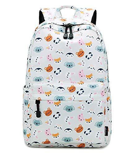 Abshoo Cute Lightweight Panda Backpack for Girls Kids School Backpacks (Panda Beige)