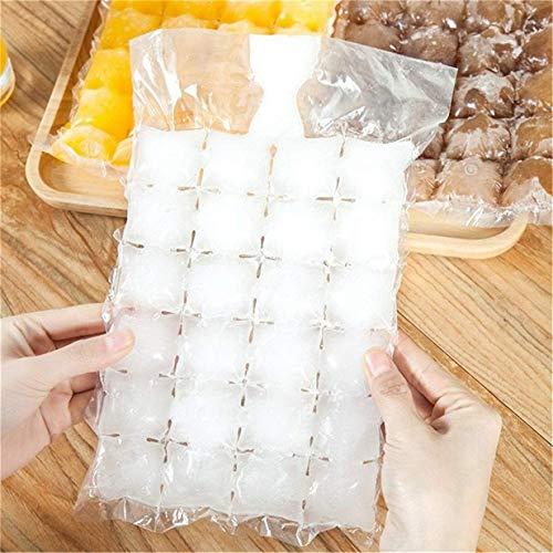 Bolsas para cubitos de hielo,Bolsas desechables cubitos de hielo cubitos autosellado,bolsa enfriadora para bebidas frías preparación de hielo para bebidas frías (10 pack)