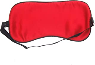Asdfnfa (Two Pairs) Adjustable Double-Sided Silk Eye Mask to Sleep Silky Breathable Men and Women Sleep Blackout Eye Mask asdfnfa (Color : Red)