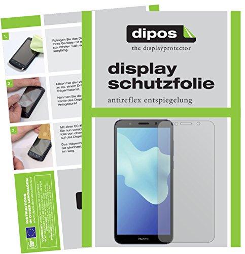 dipos I 2X Schutzfolie matt kompatibel mit Huawei Y5 2018 Folie Bildschirmschutzfolie
