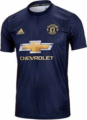 adidas Kid's Manchester United 3rd Jersey 2018/2019 (Large) Collegiate Navy/Night Navy/Matte Gold