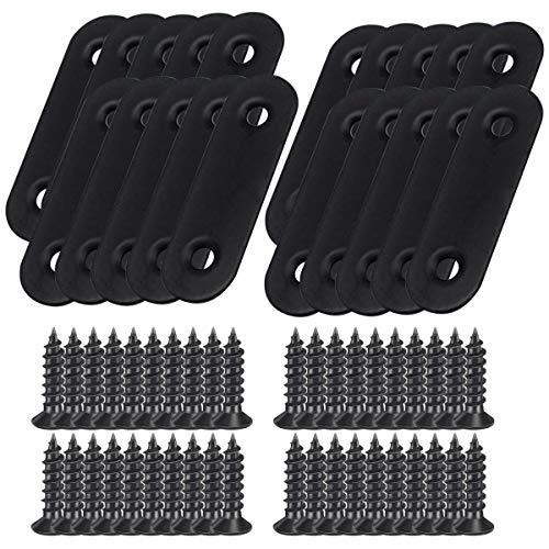 LINVINC 10/20 Piezas Placas de Fijación - Rectas Planas de Acero Inoxidable 50 x 16 mm Soporte de Placa Plana con Tornillos