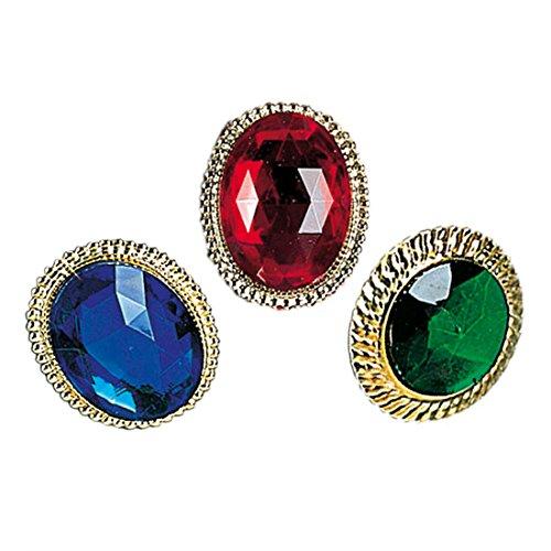 Amakando Rokoko - Anillo de cctel falso, joya barroca de imitacin de piedras preciosas victorianas, accesorio para disfraz
