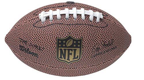 Wilson F1637 Pelota de fútbol Americano The Duke NFL Micro Juego recreativo y colección, para niños, Marrón, 17 x 10 cm